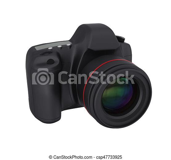 appareil photo, isolé, slr, numérique - csp47733925