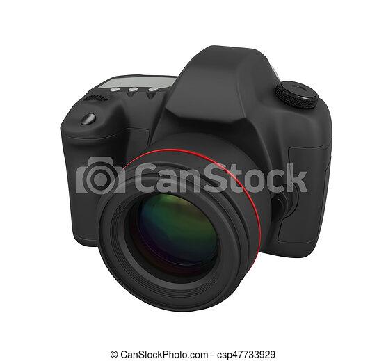 appareil photo, isolé, slr, numérique - csp47733929
