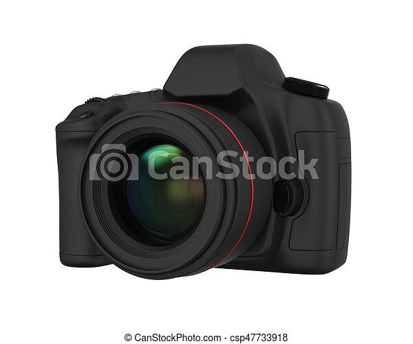 appareil photo, isolé, slr, numérique - csp47733918