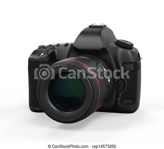 appareil photo, isolé, slr, numérique - csp14573262