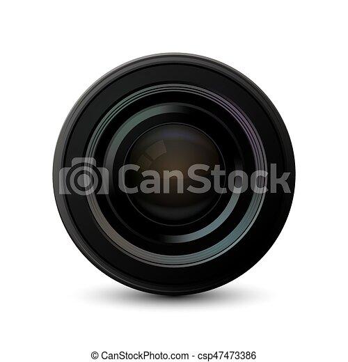 appareil photo, moderne, arrière-plan., vecteur, blanc, icône - csp47473386