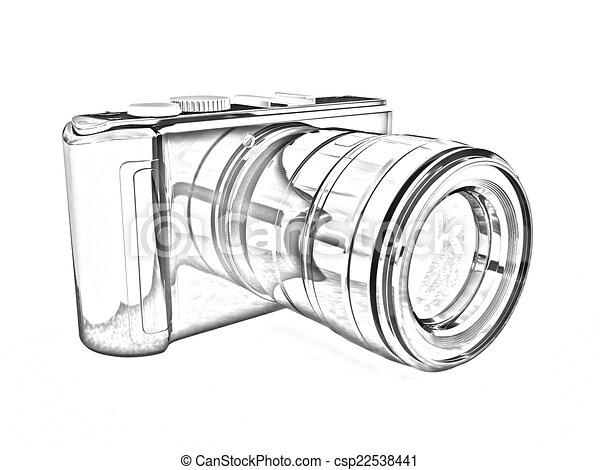 appareil photo photographique illustration 3d dessin rechercher des illustrations. Black Bedroom Furniture Sets. Home Design Ideas