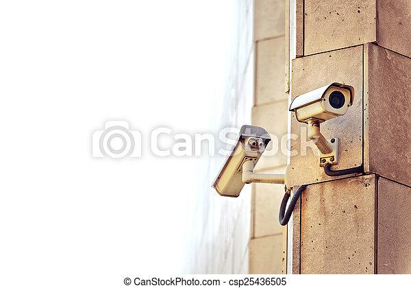 appareil-photo sécurité, cctv - csp25436505