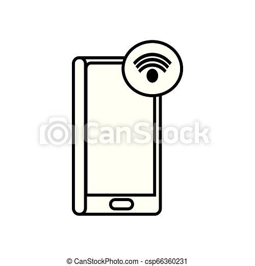 appareil, signal, smartphone, wifi - csp66360231