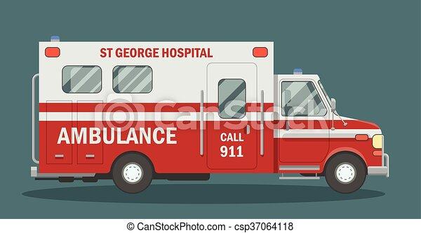 appartamento, ambulanza, veicolo - csp37064118
