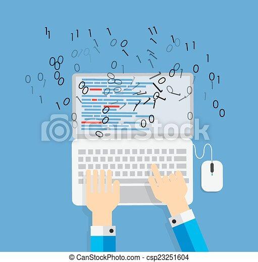 appartamento, concetto, codificazione, programmazione, illustrazione, vettore - csp23251604