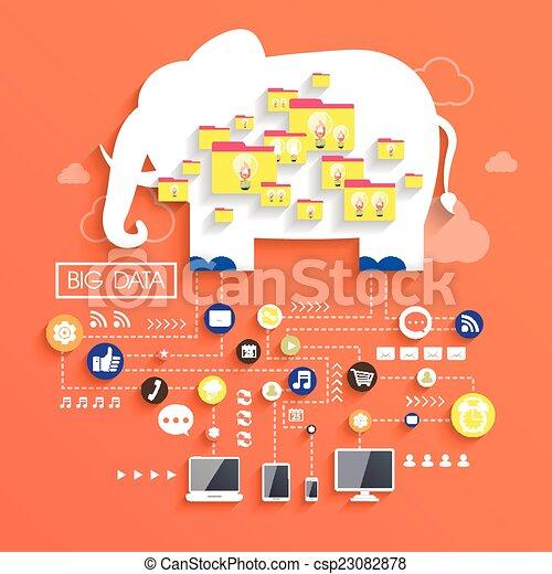 appartamento, concetto, disegno, dati, grande - csp23082878
