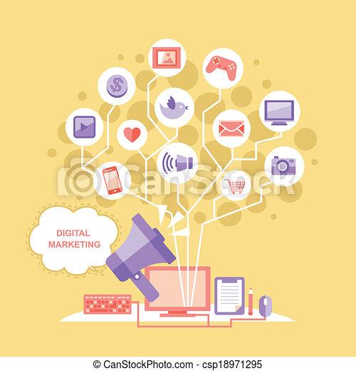 appartamento, concetto, disegno, digitale, marketing - csp18971295