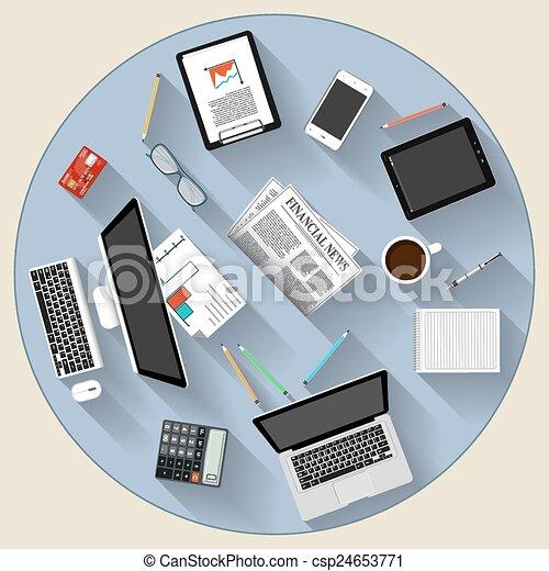 appartamento, concetto, moderno, brainstorming, lavoro squadra, disegno - csp24653771