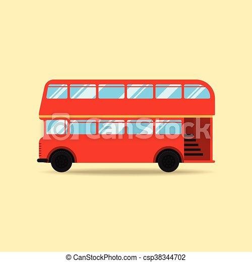appartamento, doppio, illustrazione, decker, vettore, disegno, autobus - csp38344702