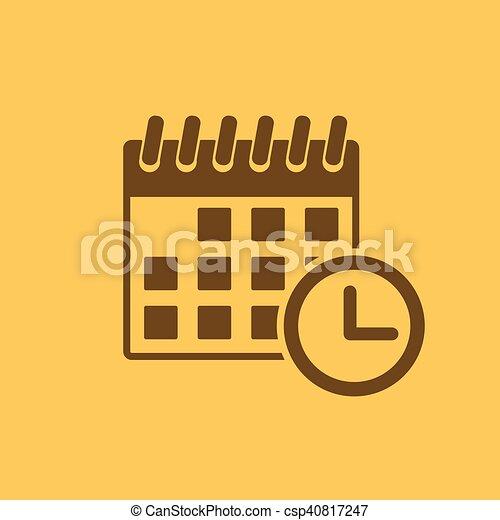 Simbolo De Calendario.Appartamento Evento Simbolo Tempo Calendario Icon Promemoria
