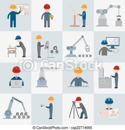 appartamento, ingegneria, icone - csp22714665