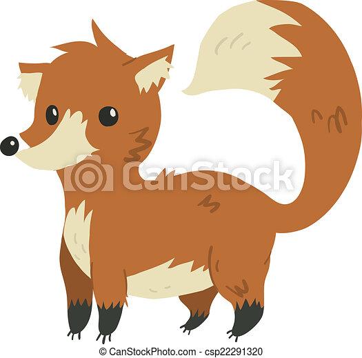 Appartamento mascot. divertente volpe vettore cartone animato