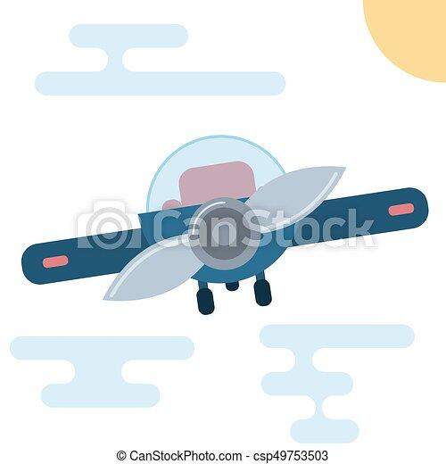 Appartamento moderno illustrazione cartone animato aeroplano