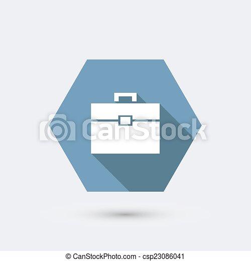 appartamento, moderno, lungo, vettore, shadow., icona - csp23086041