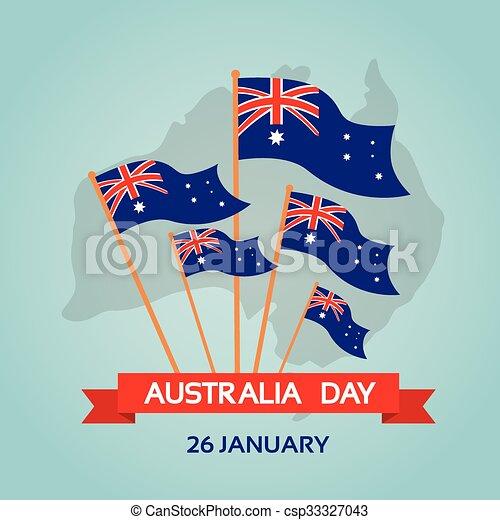 appartamento, nazionale, bandiera australia, giorno - csp33327043