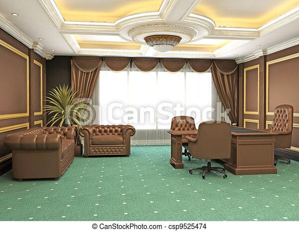 appartement bureau classique moderne espace int rieur dessin rechercher des illustrations. Black Bedroom Furniture Sets. Home Design Ideas
