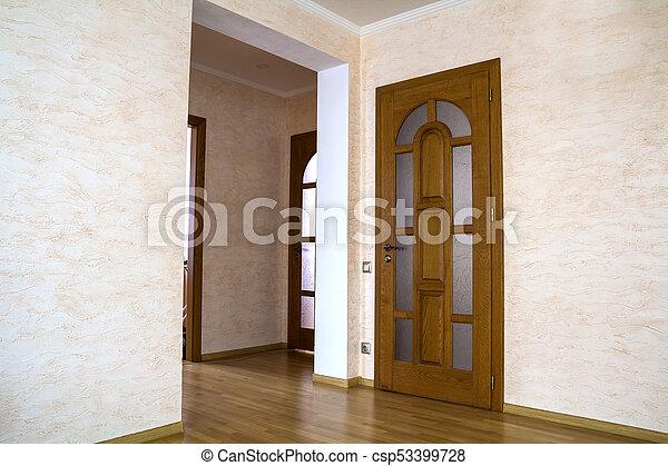 appartement, maison bois, moderne, portes, intérieur, coûteux