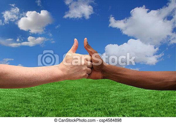appartenances ethniques, consentir, idée, deux, une - csp4584898
