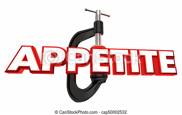 Appetite Clamp Reduce Hunger Diet Word 3d Illustration - csp50002532