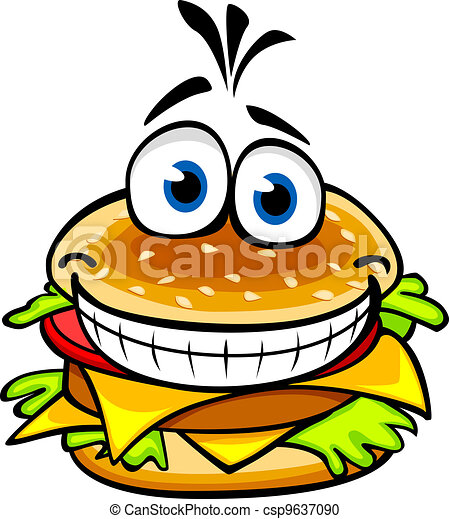 appetizing hamburger appetizing smiling hamburger in vector rh canstockphoto com hamburger clip art images hamburger clipart png