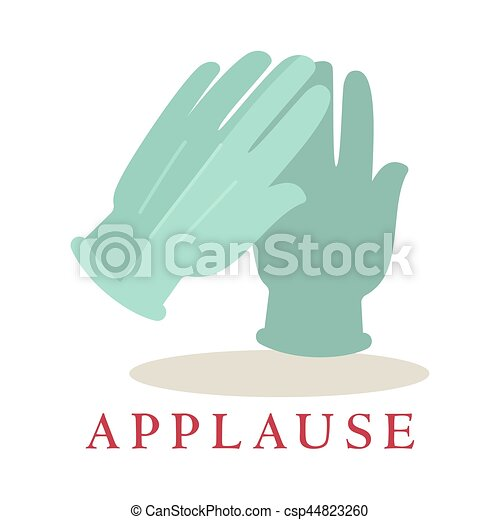 applause gloves icon silhouette isolated on white background bravo