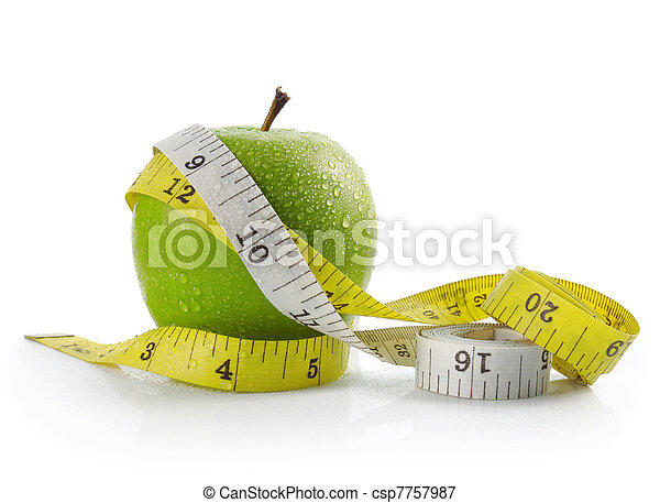 apple and measuring tape - csp7757987