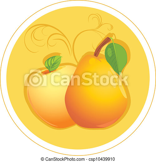 Apple and pear sticker csp10439910