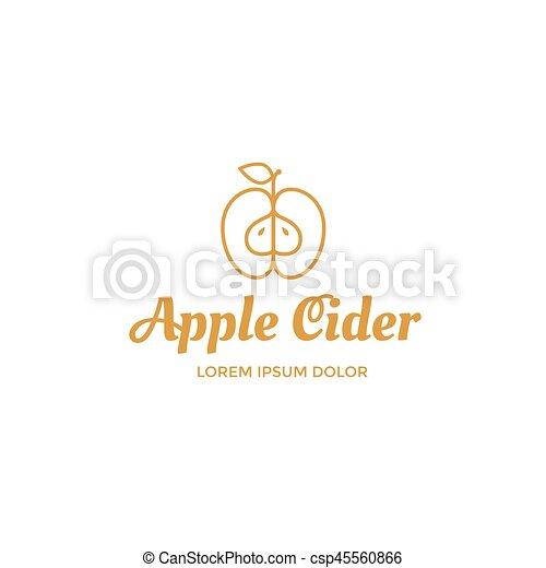 Apple cider logo - csp45560866