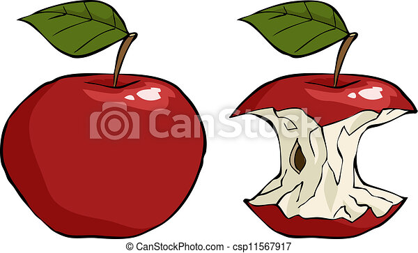apple and apple core cartoon vector illustration vector clip art rh canstockphoto com free clipart apple core Apple Core Graphics