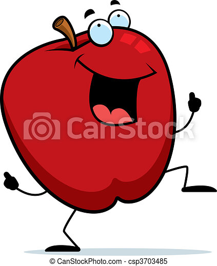 Apple Dancing - csp3703485
