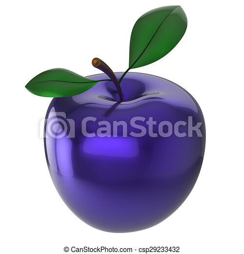 Apple Experimental Blue Food Research Nutrition Fruit Drawings - 3d rendered experimental artworks