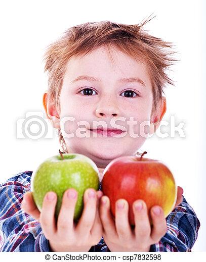 apple., fiú, kevés - csp7832598