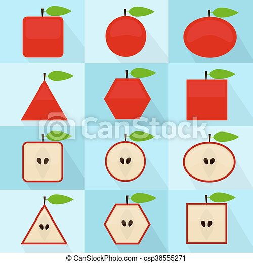 Apple geometric shape - csp38555271