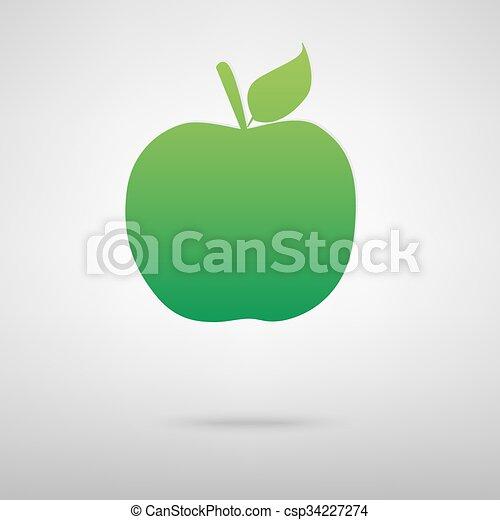 Apple green icon - csp34227274