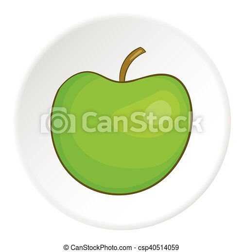 Apple icon, cartoon style - csp40514059