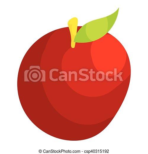 Apple icon, cartoon style - csp40315192