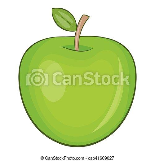 Apple icon, cartoon style - csp41609027