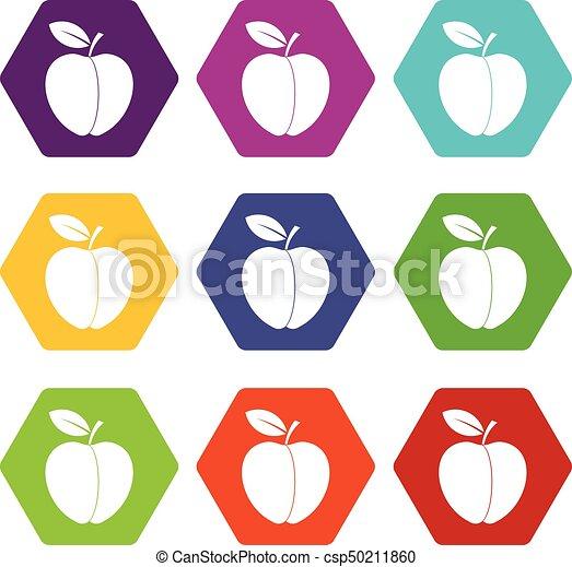 Apple icon set color hexahedron - csp50211860
