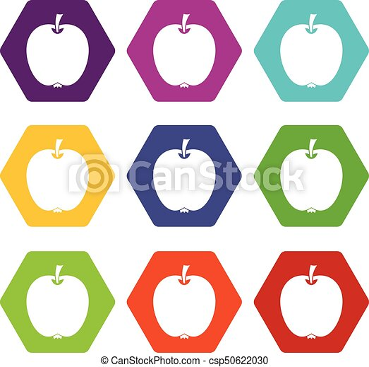 Apple icon set color hexahedron - csp50622030