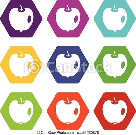 Apple icon set color hexahedron - csp51280878
