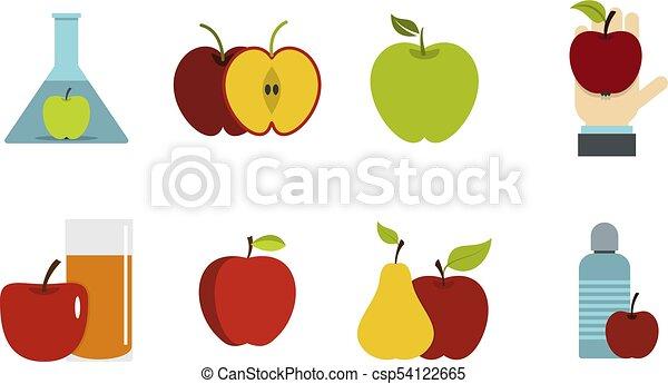 Apple icon set, flat style - csp54122665