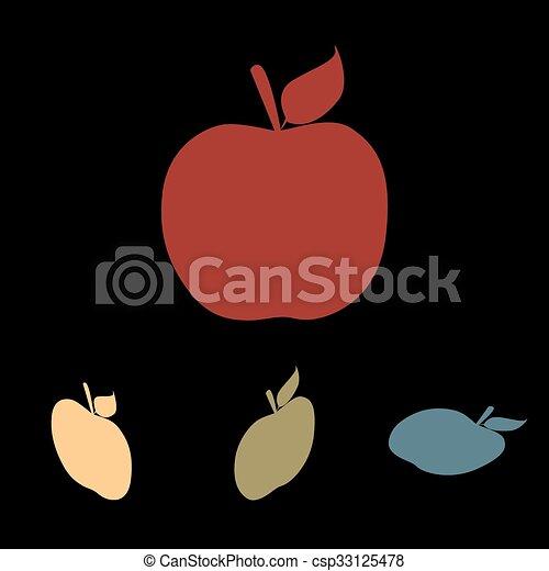 Apple icon set - csp33125478