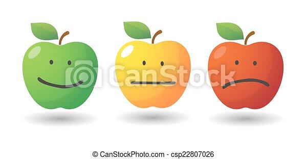 Apple icon set with emoticons - csp22807026