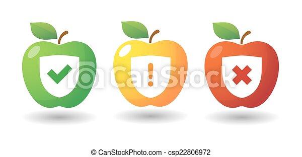 Apple icon set with survey icons - csp22806972