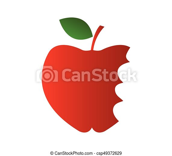 Apple icon with bite - csp49372629