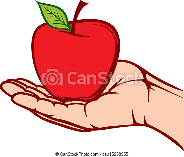 apple in the hand  - csp15258355