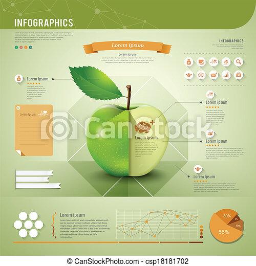 Apple infographics template - csp18181702