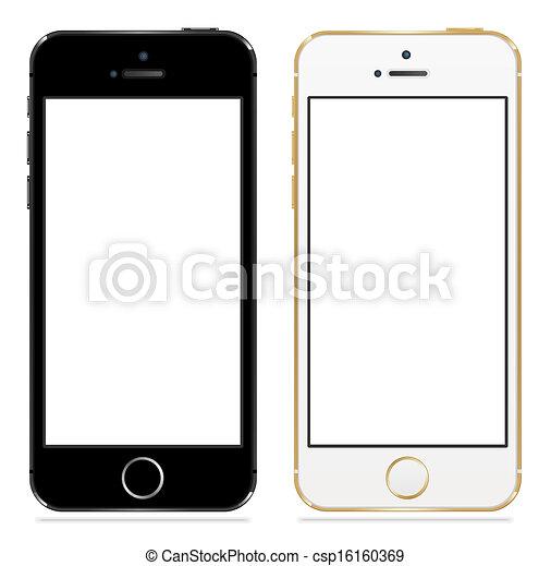 Apple iphone 5s black and white - csp16160369