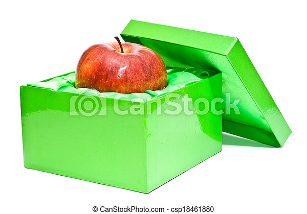 apple is in a box - csp18461880